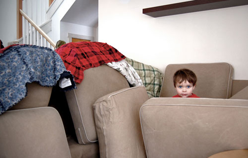 Blanket forts for adults